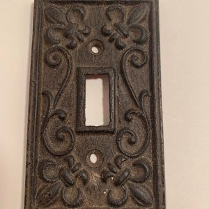 Rustic Cast Iron French Light Switch Outlet Cover